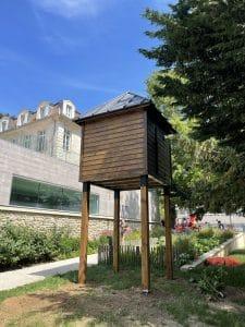 pigeonnier carré 4 pieds bois couverture bac acier pigeonnier contraceptif fontenay aux roses sogepi servibois
