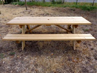 sogepi servibois table rectangle